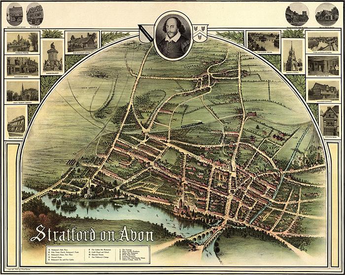 Stratford On Avon - Mapa Histórico de 1902