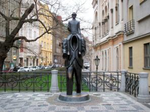 Franz-Kafka-Statue-In-Jewish-Quarter