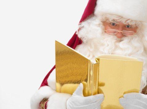 Santa claus with a book