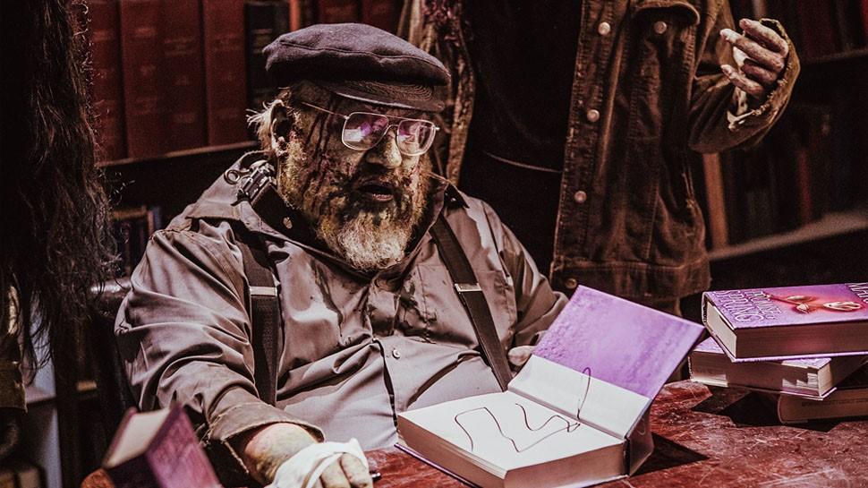 George R.R. Martin interpretando ele mesmo como zumbi, na série Z Nation