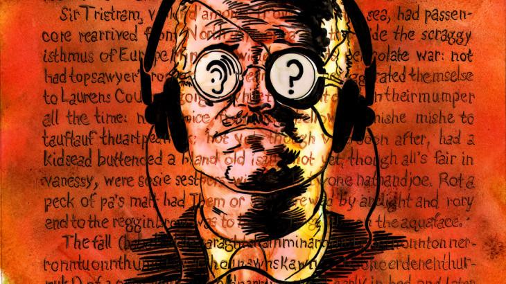James Joyce surtando enquanto escrevia Finnegans Wake / Robert Berry