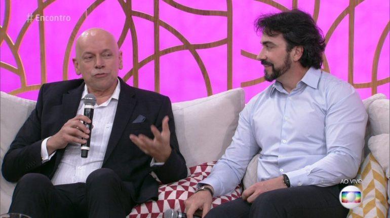 Leandro Karnal e Padre Fábio de Melo no Programa Encontro Com Fátima Bernardes, da Rede Globo