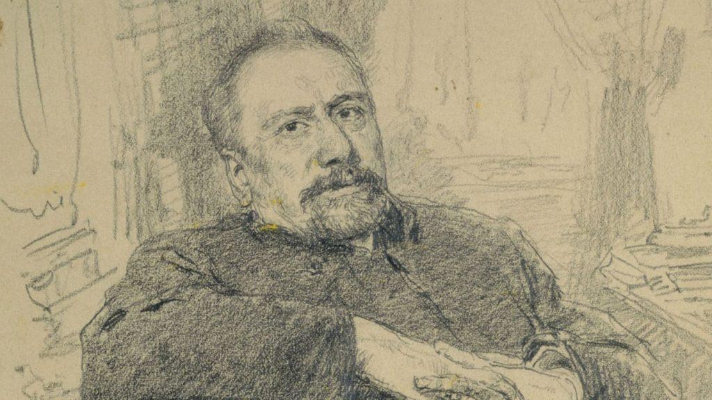Desenho de Nikolai Leskov